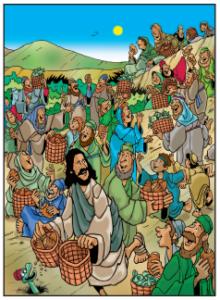 Jesus Feeds Hungry People